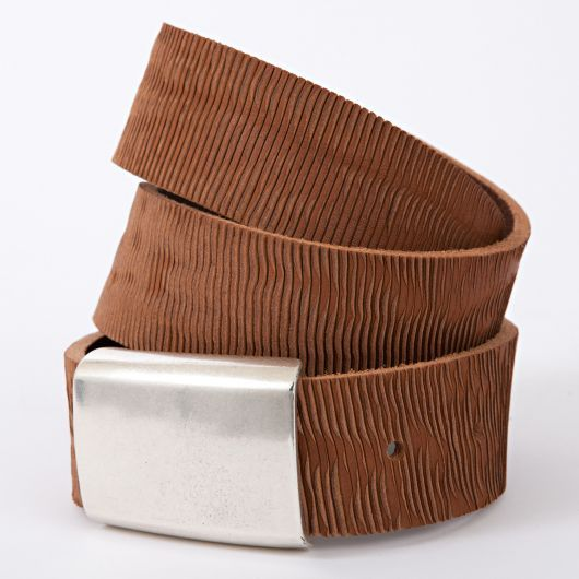 Laser Vegetable-Tanned Leather Belt by Moore and Giles