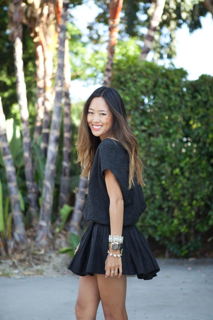 Summer Black Dress Song Of Style Summer Black Dress Style Asian Ombre Hair