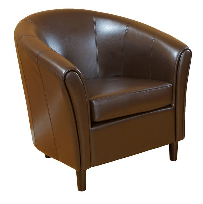 Manchester Barrel Lounge Chair Leather Chair Brown Leather Chairs Affordable Leather Chair