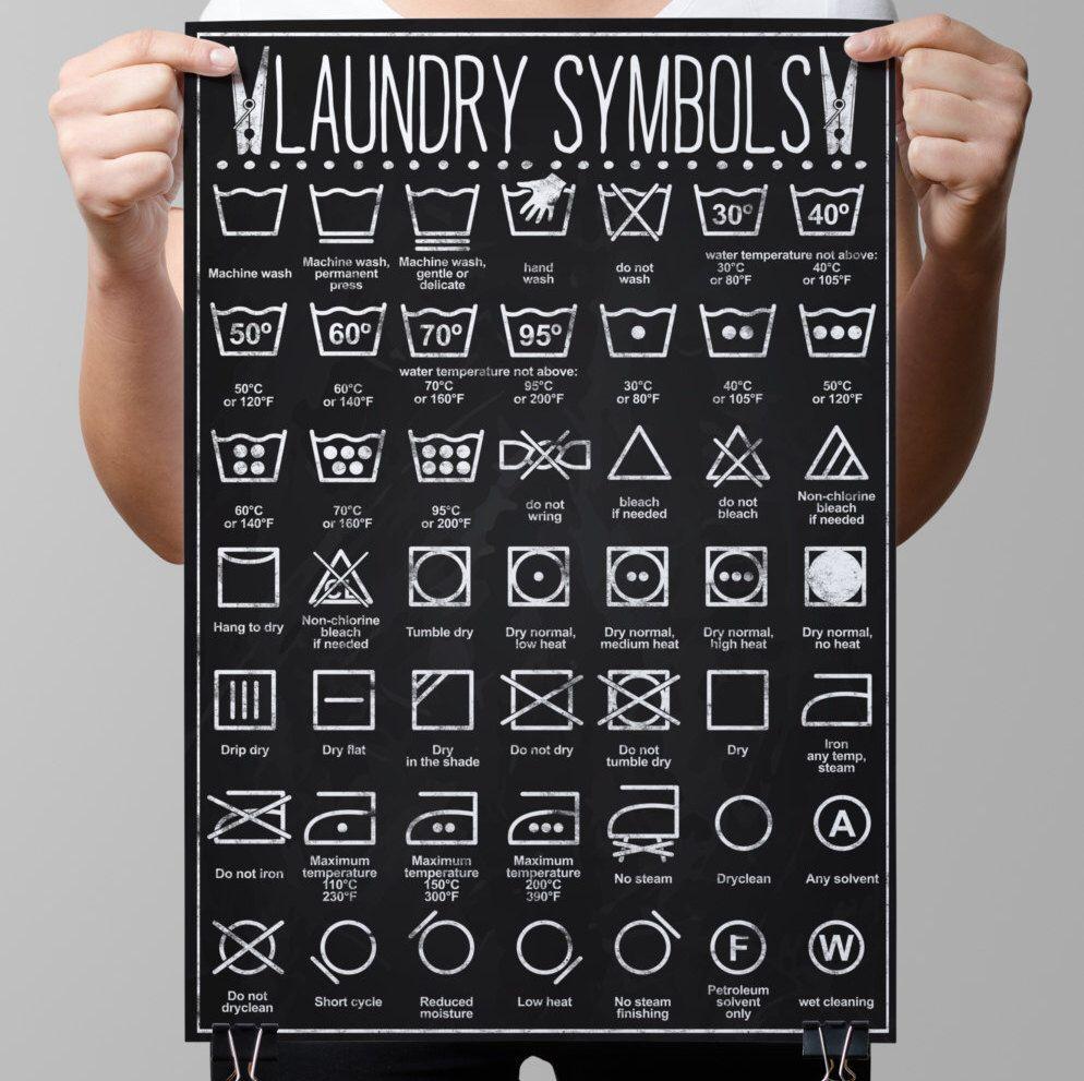 Kitchen chalkboard clothes care laundry guide temperature washing kitchen chalkboard clothes care laundry guide temperature washing symbols bleach buycottarizona
