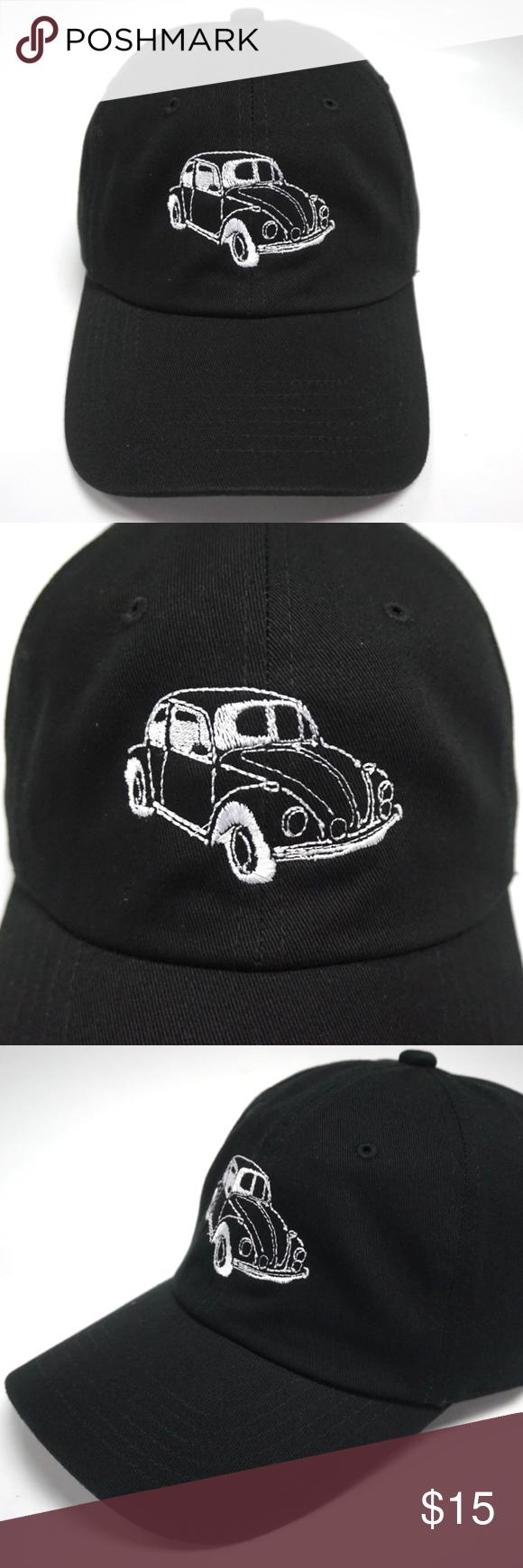 Volkswagen VW Bug Dad Hat Slouch Cap Volkswagen VW Bug Dad Hat Color  Black  Condition 5b2fdb1a113