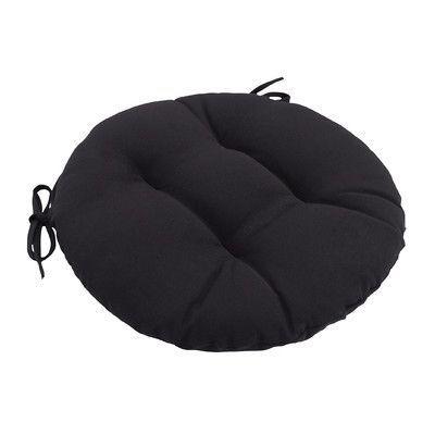 Wayfair Custom Outdoor Cushions Knife Edge Outdoor Round Dining Chair  Cushion Tufted With Ties Fabric: