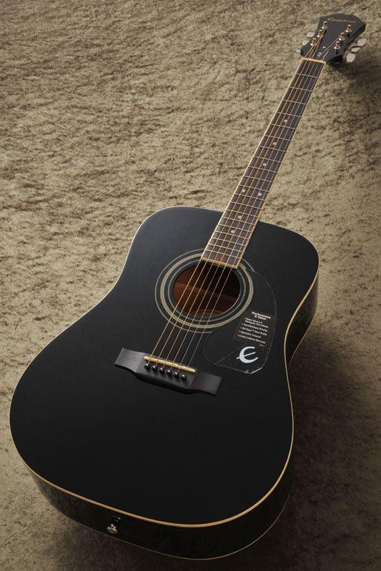 Epiphone Dr 100 Ebony Epiphone Acoustic Guitar Photography Guitar Photography