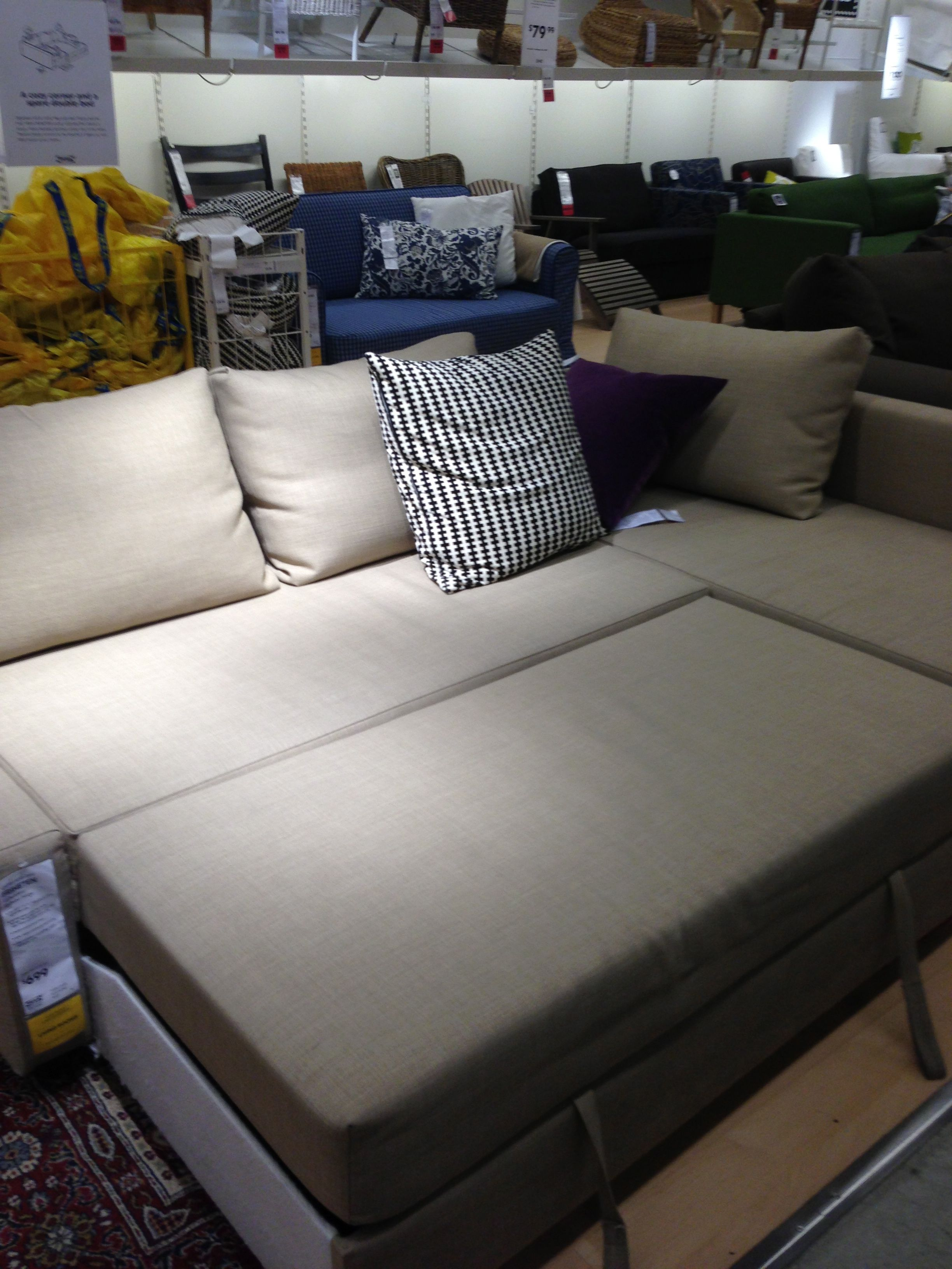 Lycksele Murbo Review >> IKEA Showroom - CORNER SOFA BED FRIHETEN, $699 CDN; sofa, chaise and double bed in one | STUDIO ...