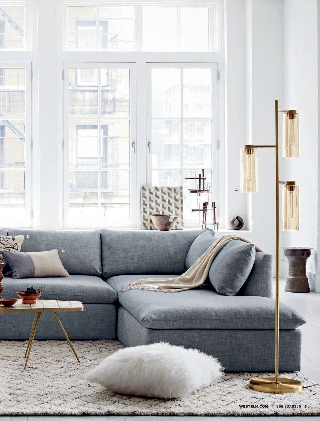 West Elm Shelter Sectional Insides Outsides Pinterest