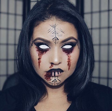 Inspired by the Blair Witch #Halloween #makeup