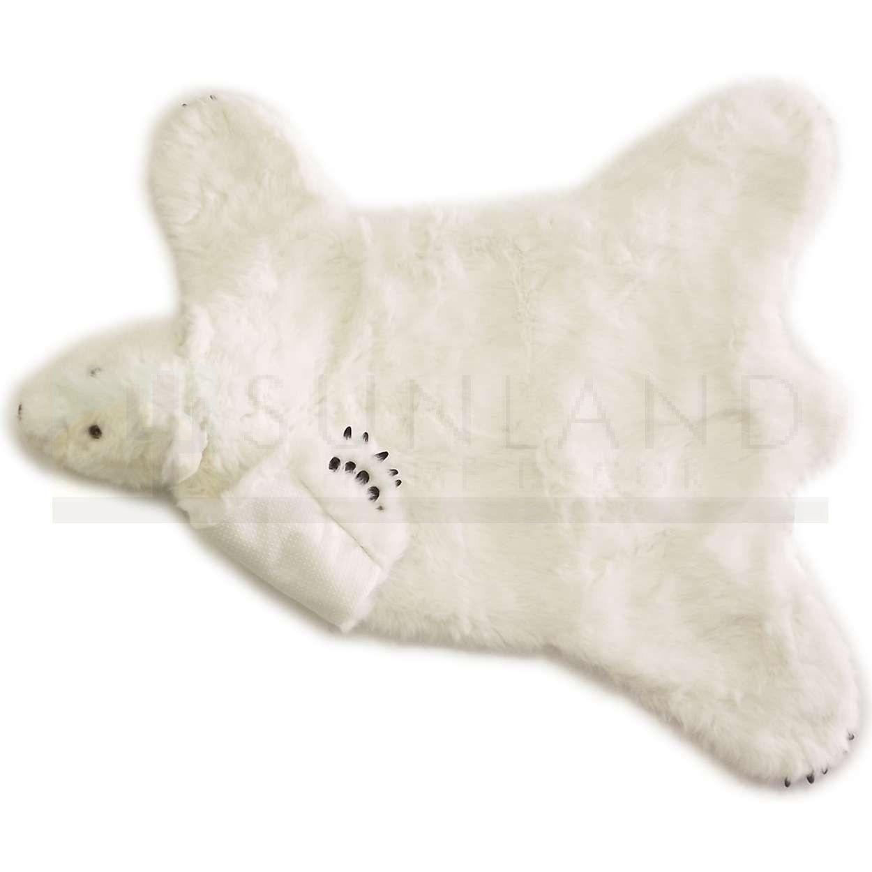 Sunland Home Decor Br104 Plush Animal Rug 58in Polar Bear