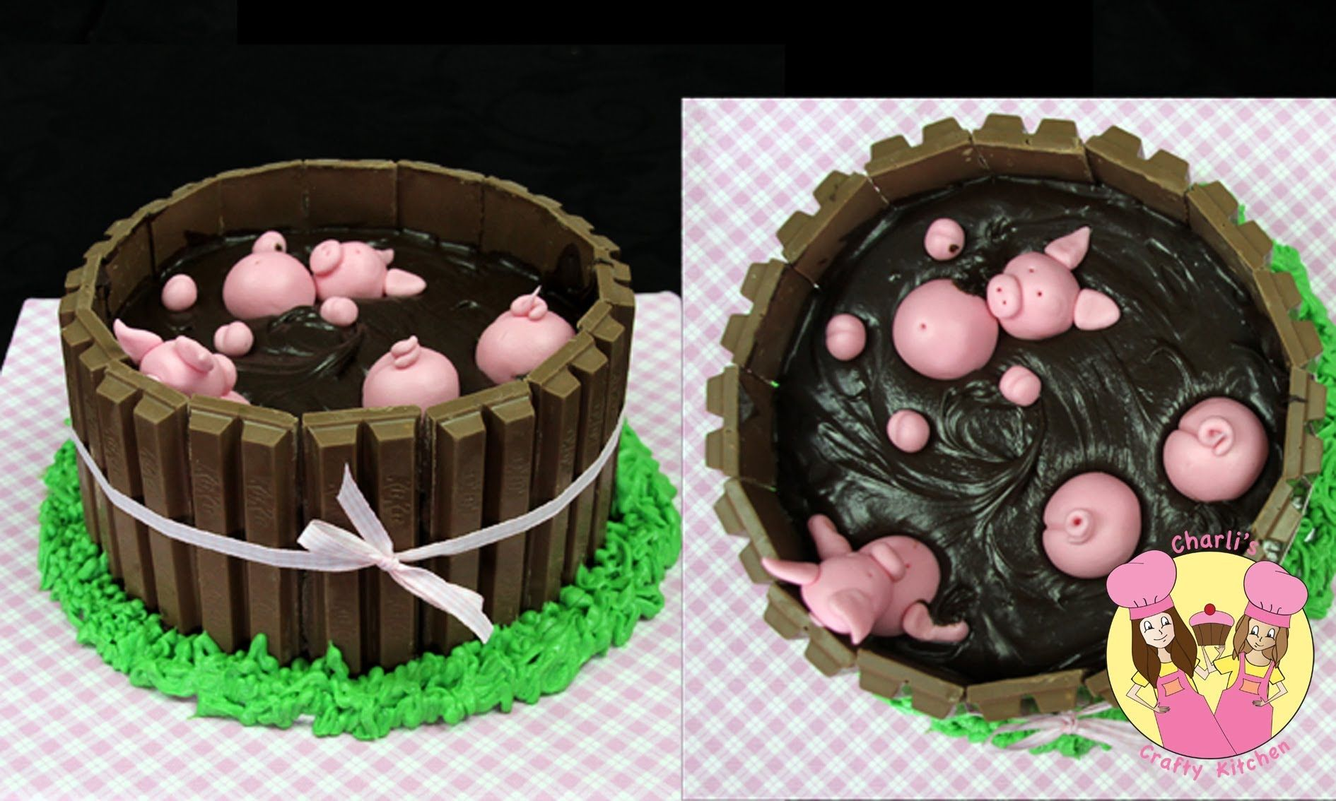 PIGS IN MUD CAKE A Mycupcakeaddiction collaboration how to Cakes