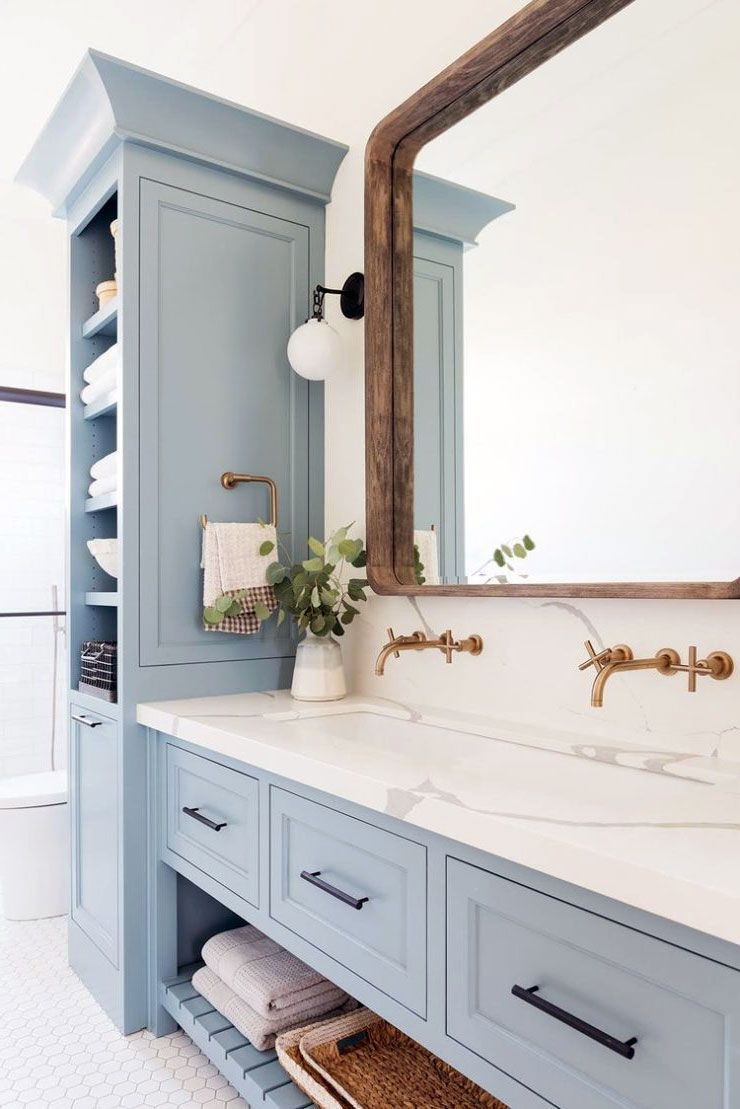 45 Harmonious Blue Theme Scandinavian Bathroom Ideas Badezimmerklein Bathroom Blue Harmonious Id Blue Bathroom Light Blue Bathroom Scandinavian Bathroom