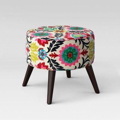 Astounding Parkville Round Cone Leg Ottoman Threshold Target In Machost Co Dining Chair Design Ideas Machostcouk
