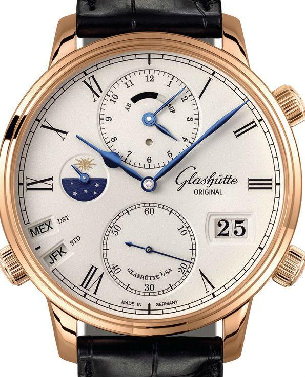 1-89-02-01-05-30 Glashutte Original Art Technik Senator Cosmopolite - немецкие мужские наручные часы - золотые, белые