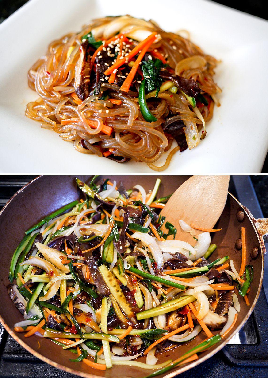 韓式雜菜粉絲 잡채 Stir Fry Korean Noodles