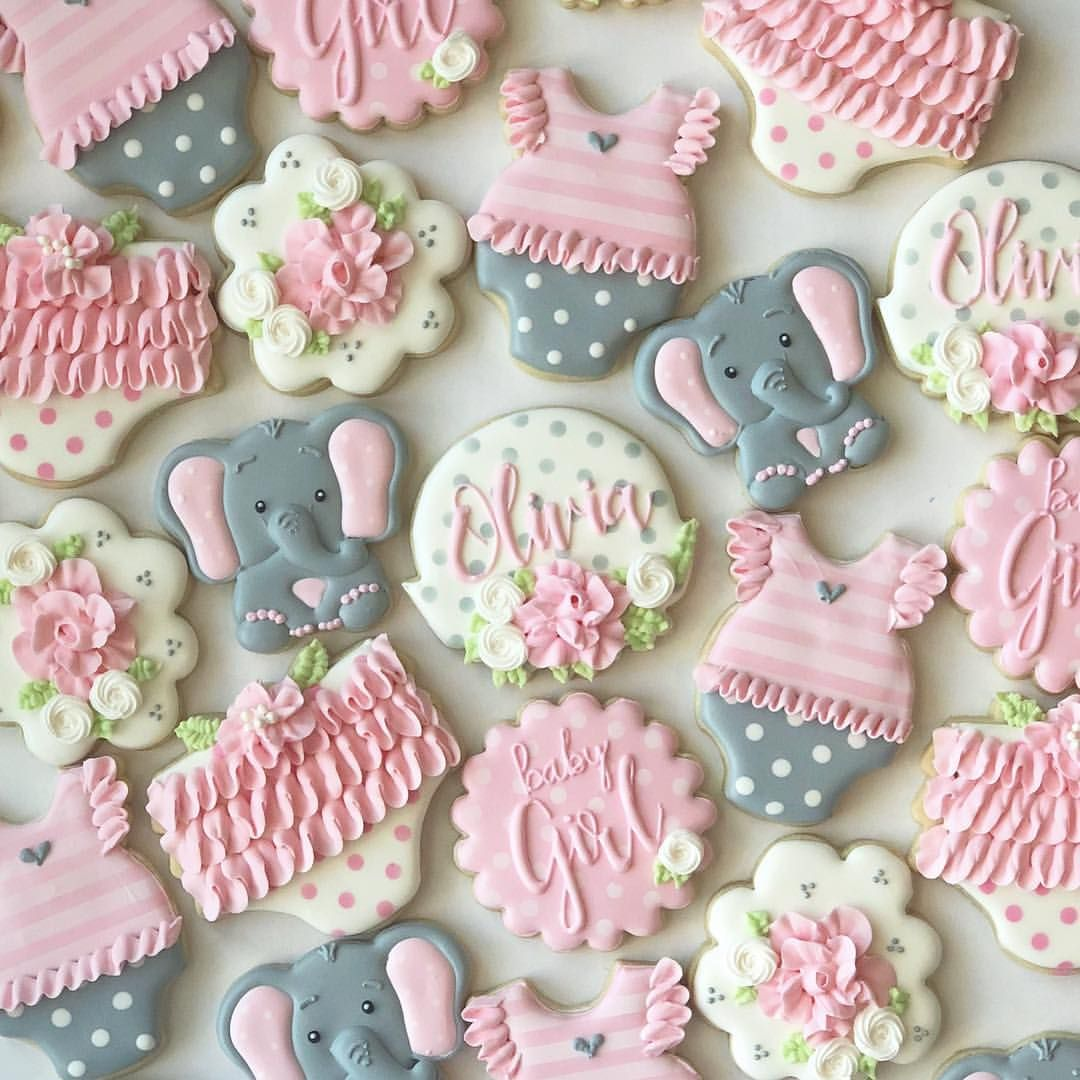 A Little Peanut Is On The Way Elephant Baby Shower Cake