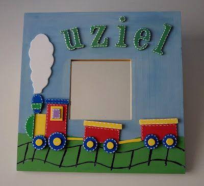 Espejo con tren en gomaeva cuadros y espejos infantiles for Espejos infantiles