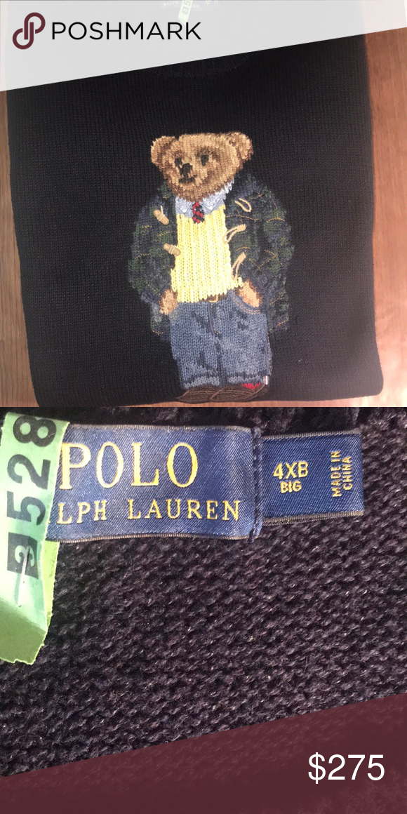 Ralph Lauren Polo Bear Sweater Polo Sweater Polos And Customer