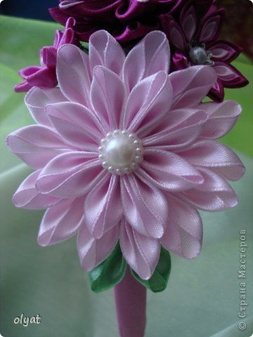 Pin De Imelda Ruiz Em Flores De Liston Flores De Fita De Cetim