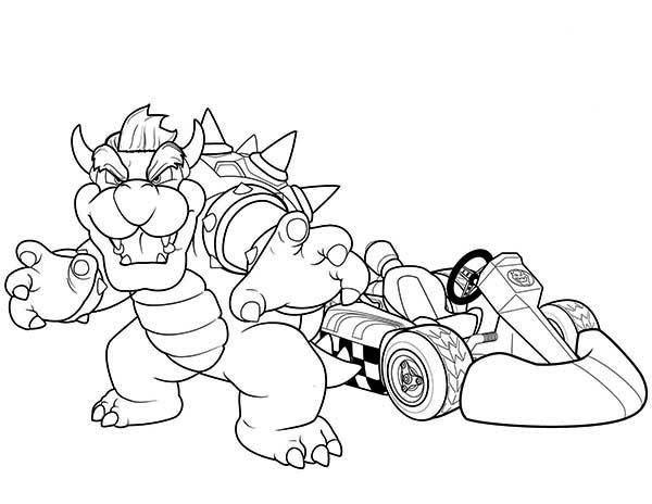 Brachiosaurus Go Kart Champion In Superwhy Coloring Page Coloring Sky Mario Coloring Pages Mario Kart Coloring Pages