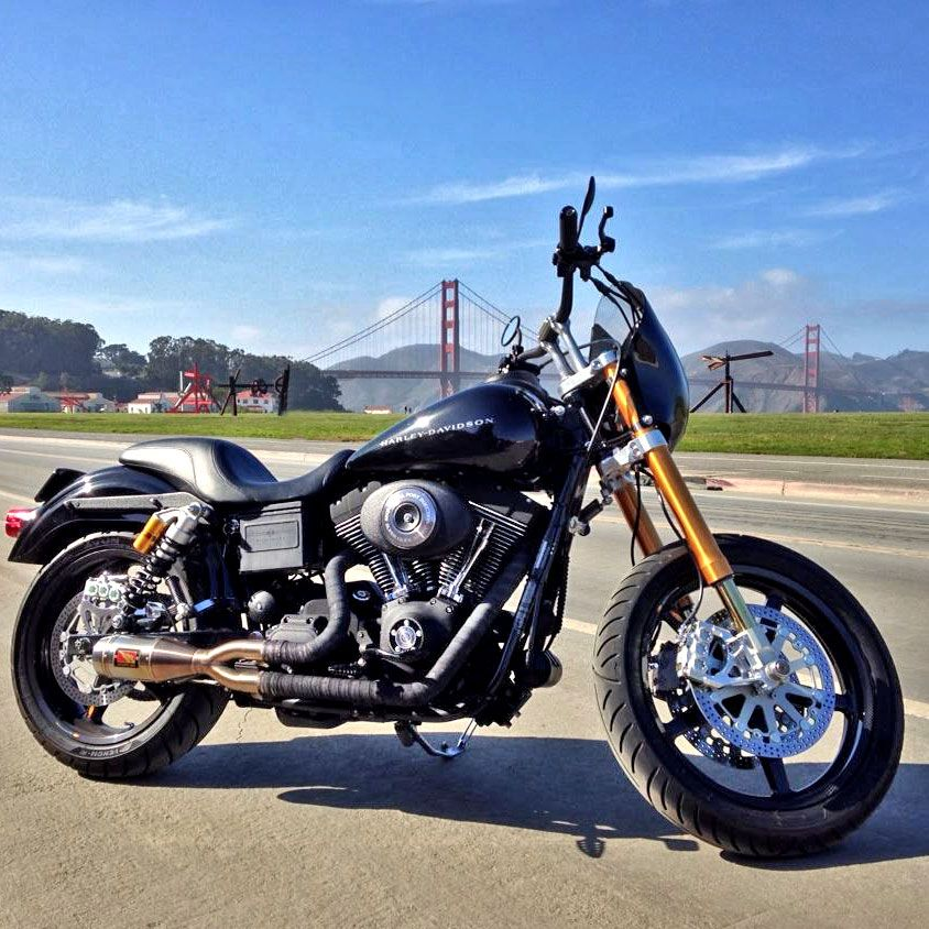 Harley With Krauss Dynamoto Sp Inverted Front End Kit Harley Davidson Motorcycles Dyna Harley Dyna Harley Davidson Dyna