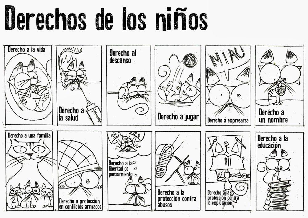Derechos de los niños para colorear | DERECHOS DEBERES NIÑOS/HUMANOS ...