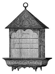 vintage birdcage clipart black and white clip art printable bird rh pinterest com