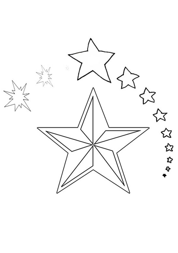 Star Template Bright Star Coloring Page