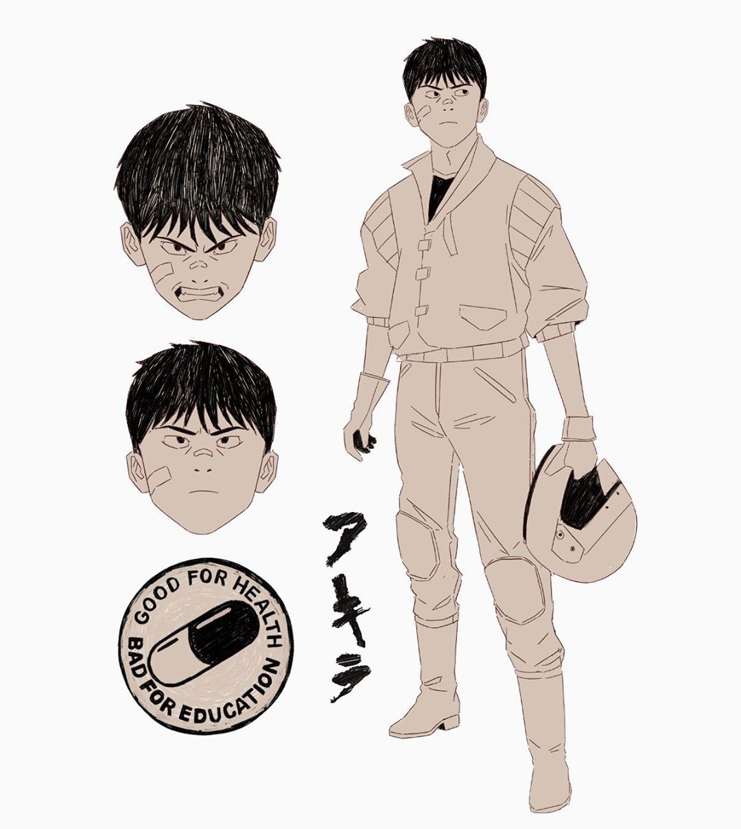 Mau Lencinas On Instagram Sketching Shotaro Kaneda Akira Katsuhirootomo Akira Anime Akira Characters Akira Manga