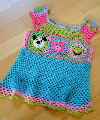 Häkelkleid so süß   Baby & kids crochet, knitting ect.   Pinterest ...