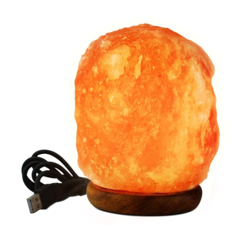 Himalayan Salt Lamp Home Depot Gorgeous Wbm Himalayan 3 Inled Usb Himalayan Ionic Crystal Salt Mini Lamp