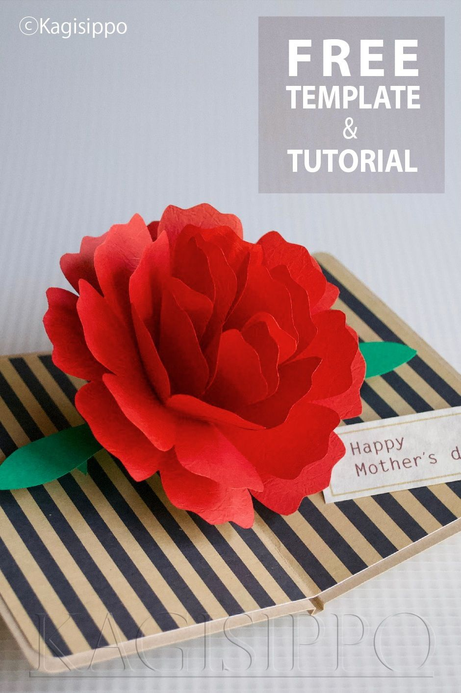 Carnation Pop Up Card Pop Up Cards Template Free Cardmaking