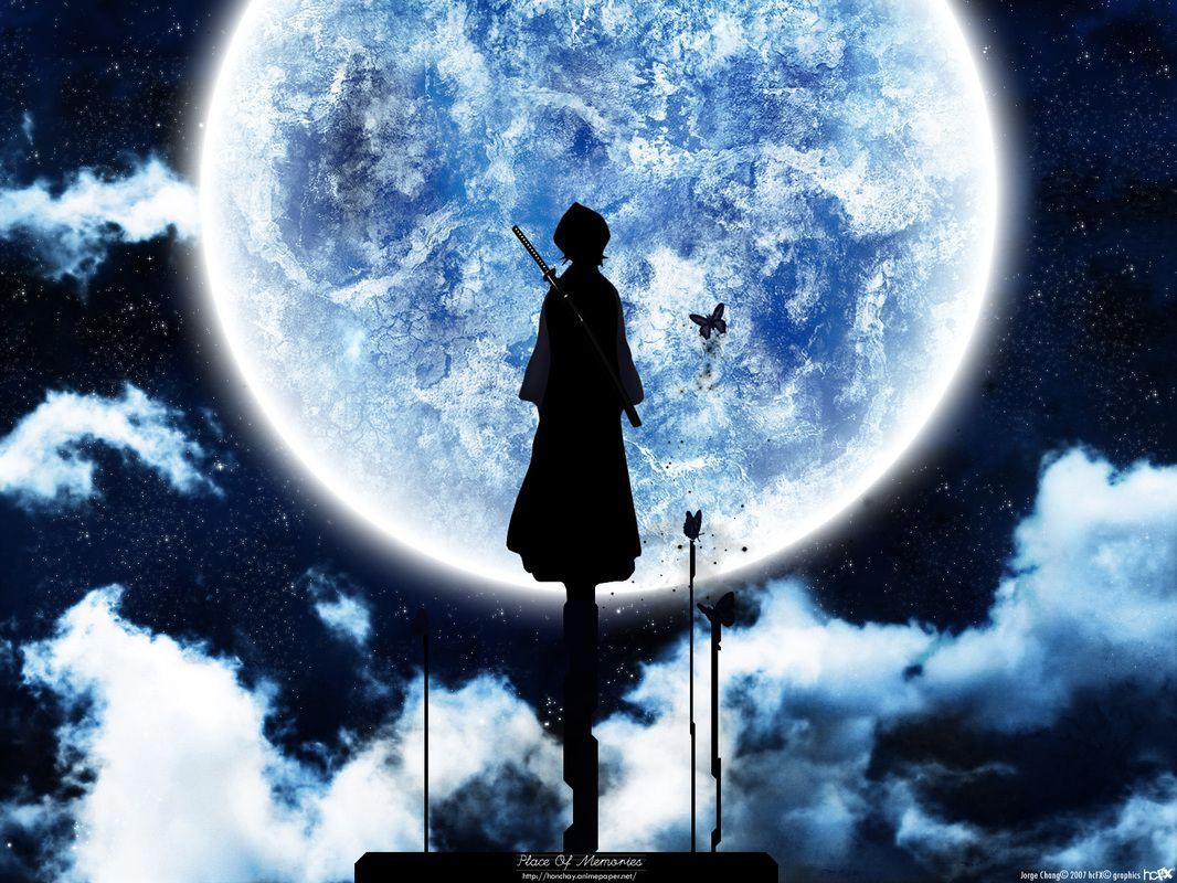 Anime Picwallz Weebly Com Anime Moon Fondos De Escritorio Imagenes De Bleach Fondo De Anime