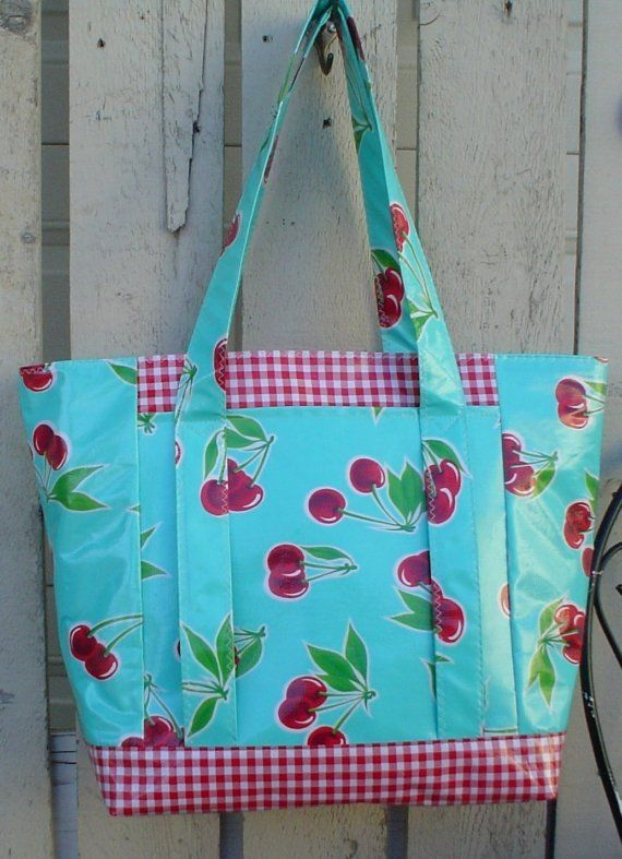 Oilcloth Multi Market Tote Bag - I like the style of this bag, with ...