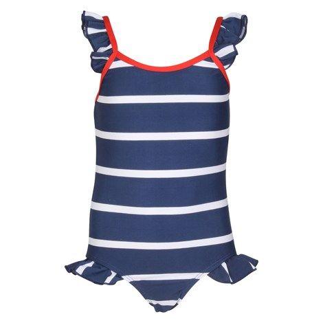 Swimsuit Navy Stripe - 1
