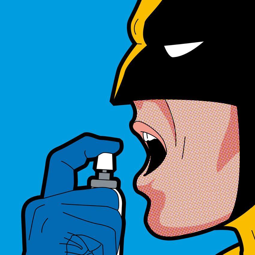 Juxtapoz Magazine - Greg Guillemin's 'The Secret Life of Superheroes'
