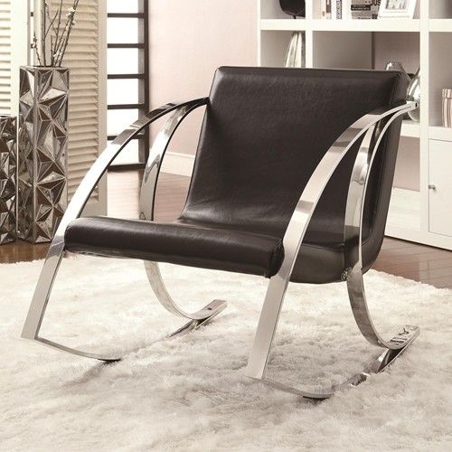 Modern Rocking Accent Chair Living Room Rocking Chairs Metal