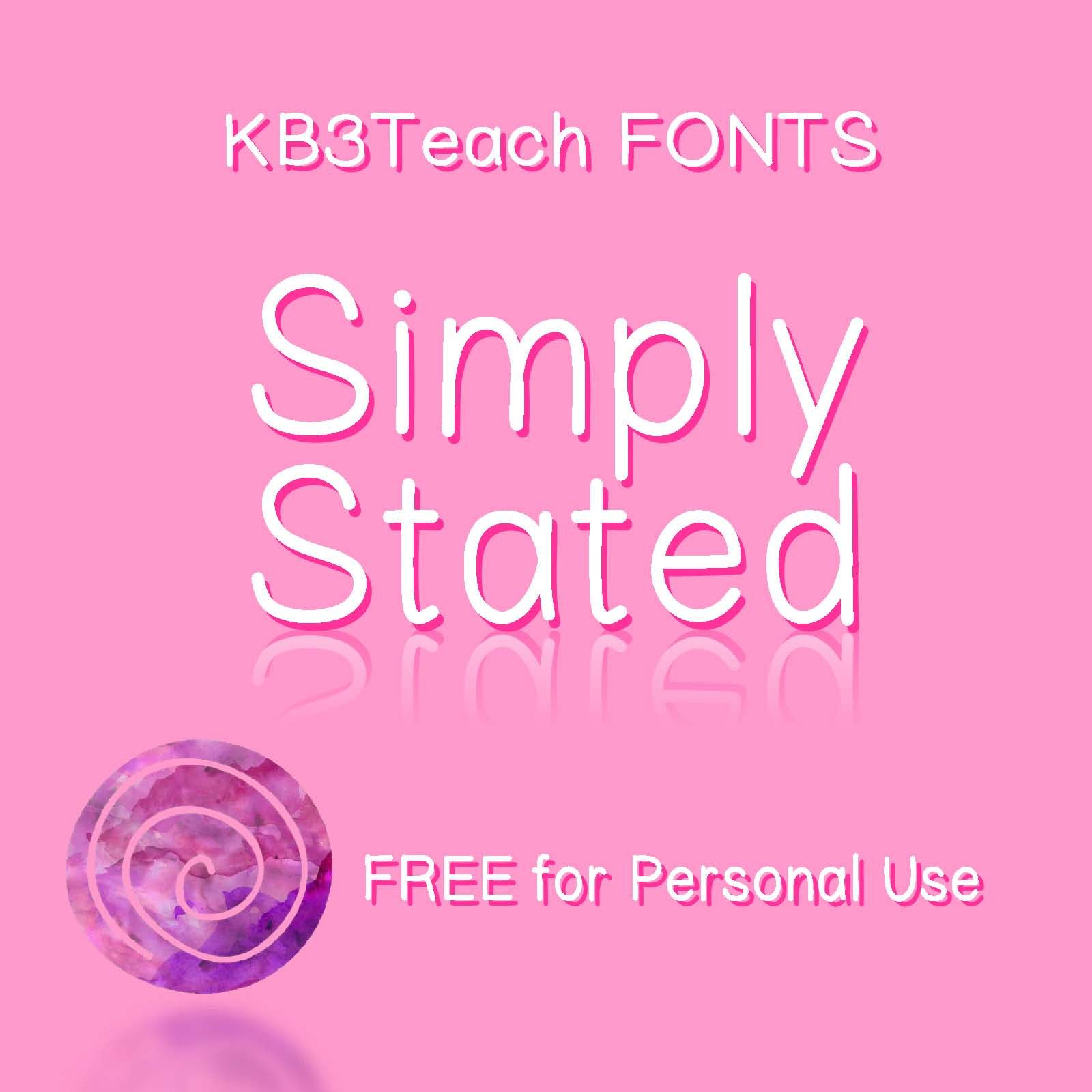 Free Fonts Kb3 Simply Stated Personal Use