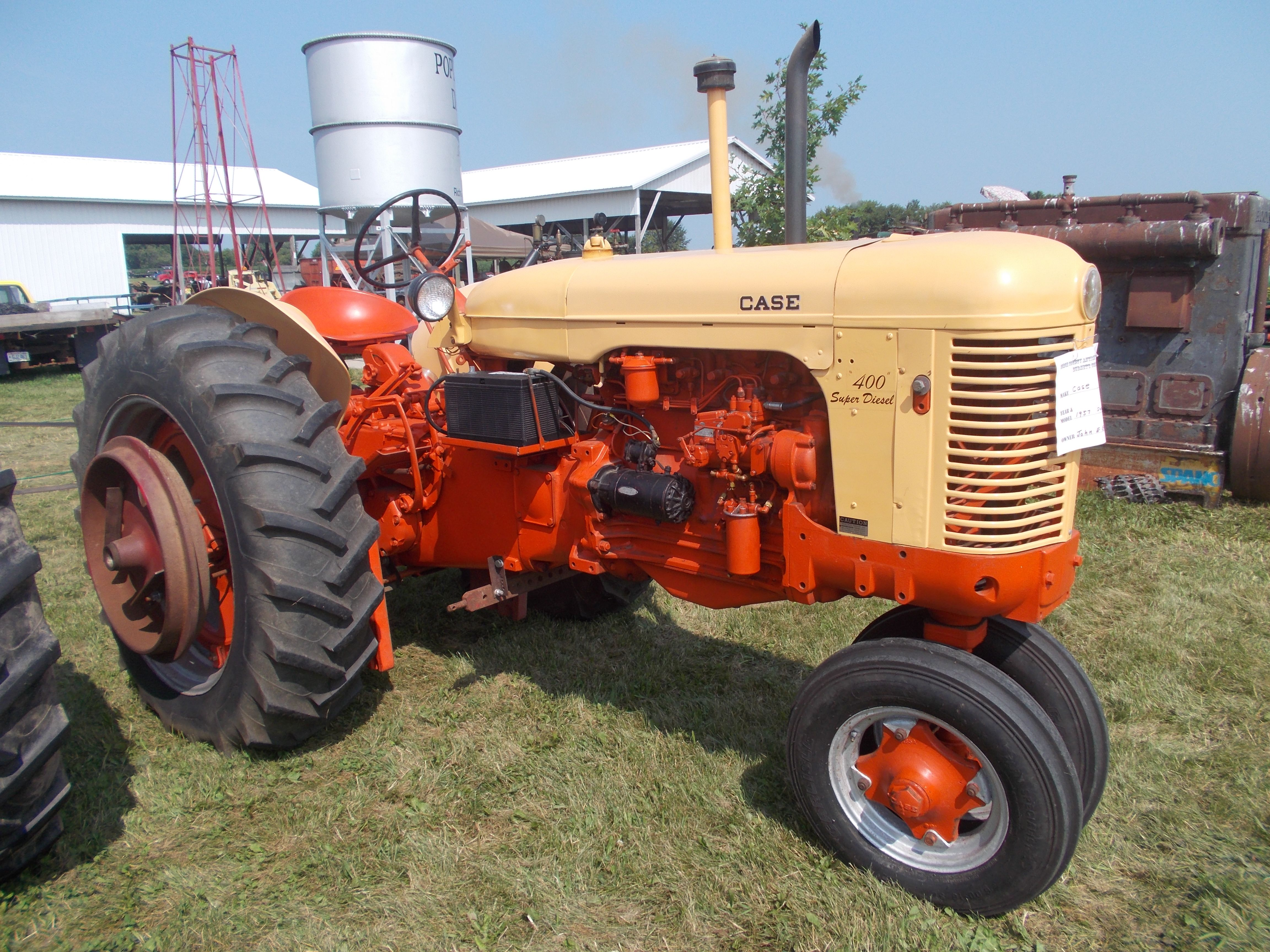 Old Case Tractor : Dodge county wi antique power show case