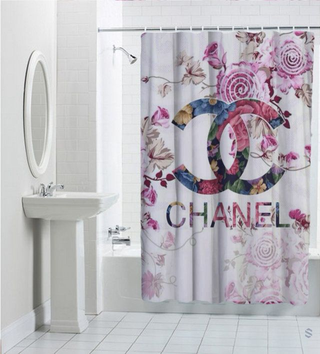 Sell Chanel Floral Vintage Logo Custom Shower Curtain Cheap