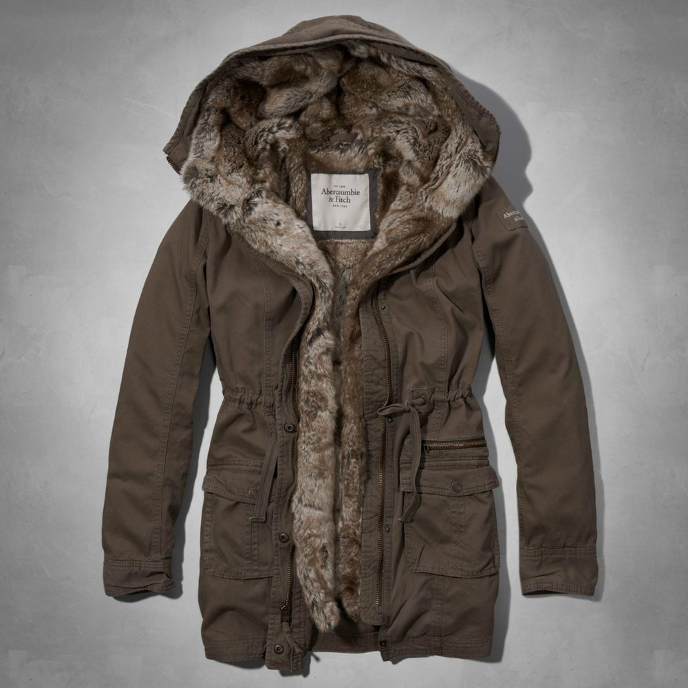 Abercrombie Fitch Accessories Abercrombie Fitch Womens: New Abercrombie & Fitch Women Lindsey Fur Lined Parka Coat