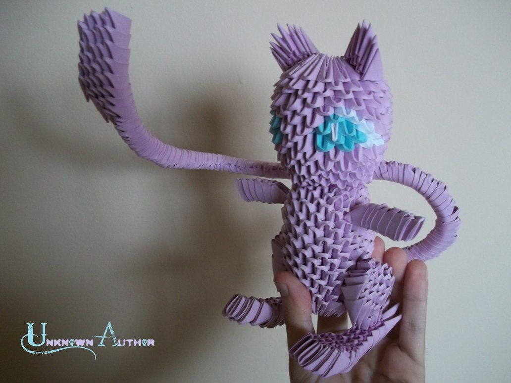 3d origami mew by jobe3do crafts pinterest 3d origami 3d origami mew by jobe3do jeuxipadfo Images