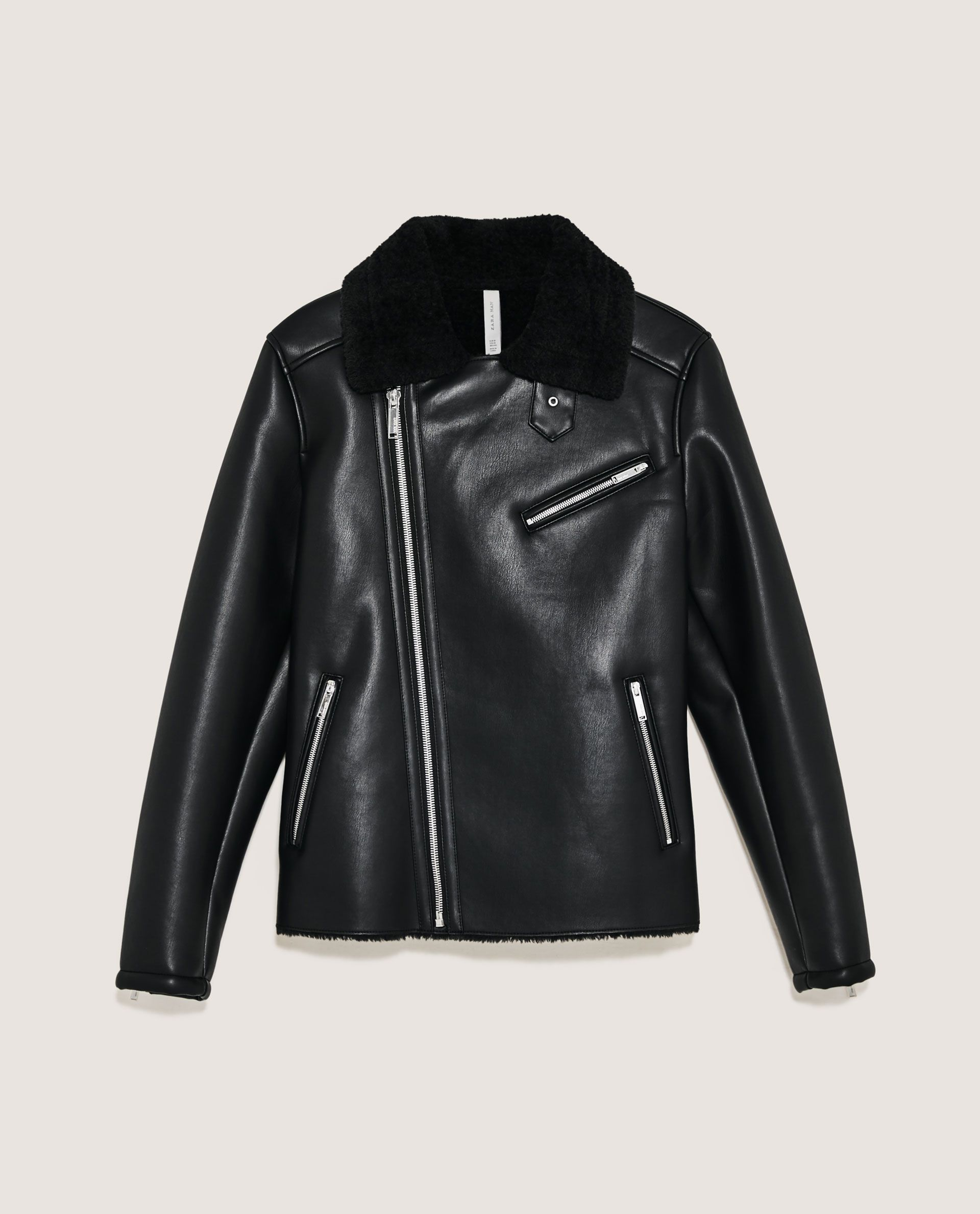 Image 8 Of Double Faced Jacket From Zara Jackets Jacket Brands Black Shirt [ 2379 x 1920 Pixel ]