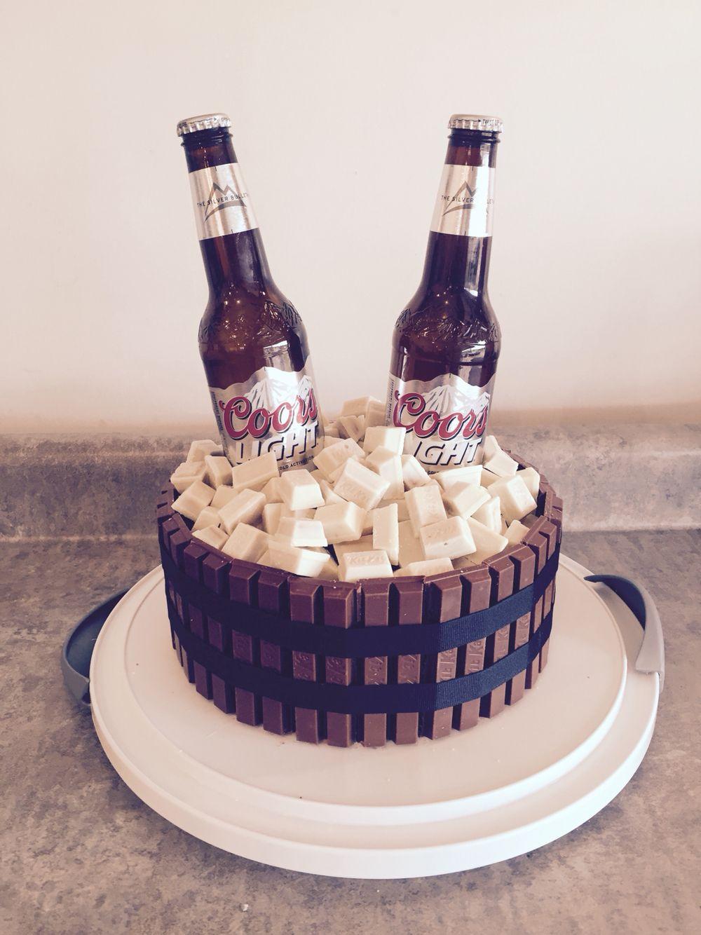 Beer Barrel Kit Kat Cake Desserts In 2019 Pastel De