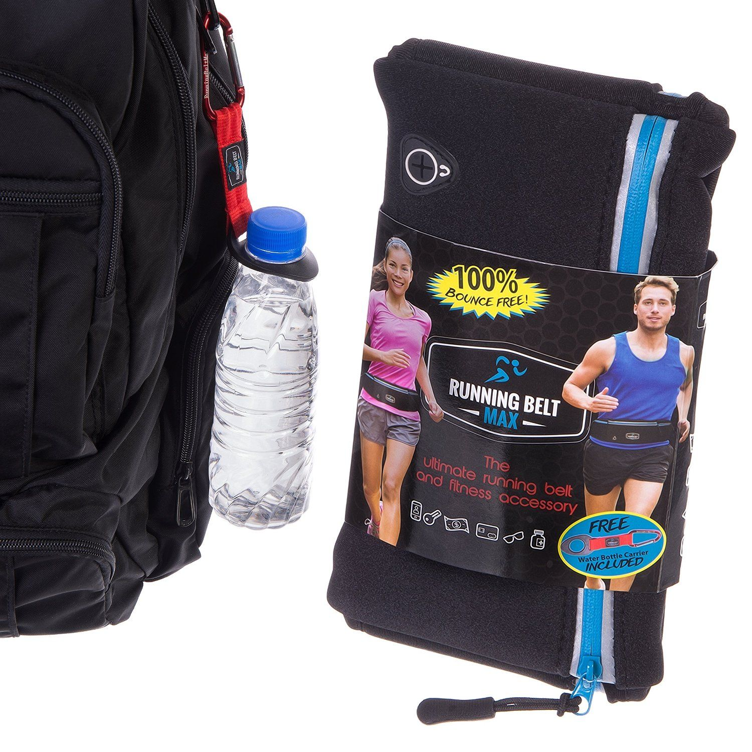 Amazon.com : Running Belt Max - For Women & Men - Fits iPhone 6 Plus and Android Phones - Waterproof Lycra - Reflective Zippers, Earphone Hole & Key Holder - FREE Bottle Holder & FREE eBook - Lifetime Guarantee! : Sports & Outdoors