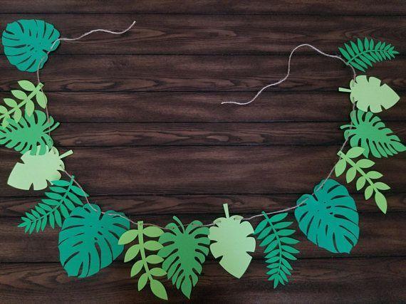 Leaf Banner  Moana Birthday Party  Moana Decorations Moana Party  Maui  Leaf Party Decor  Moa