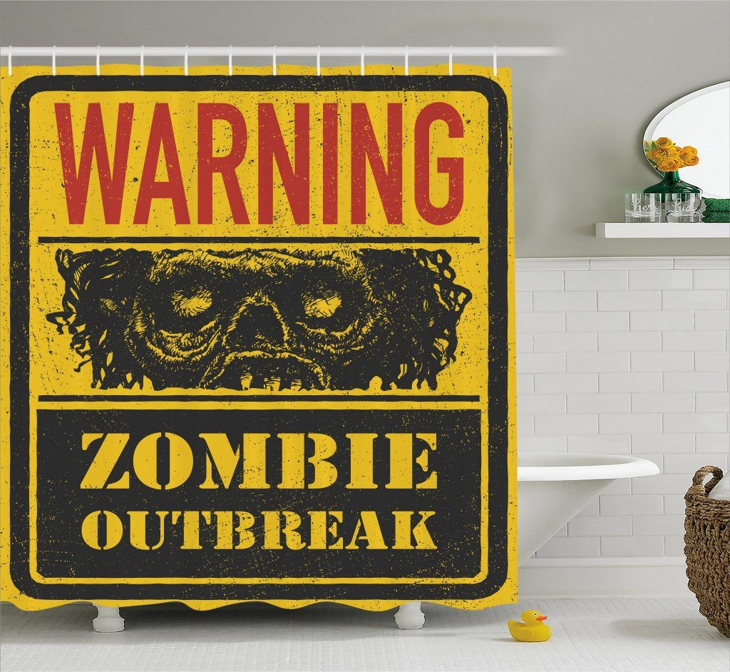 Grunge Horror Sign Shower Curtain With Images Shower Curtain
