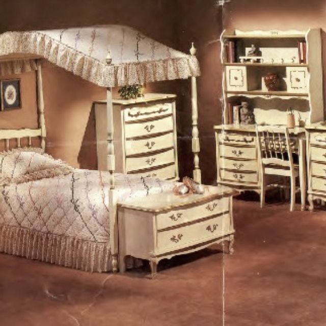 Canopy Bedroom Sets Girls sears girl's bedroom furniture, i had this set when i was a kid