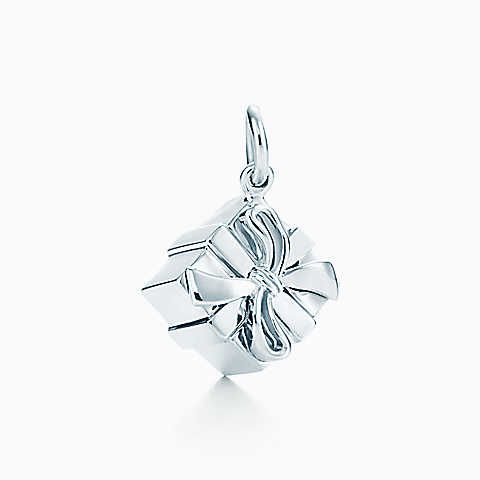 Tiffany Box charm in sterling silver.