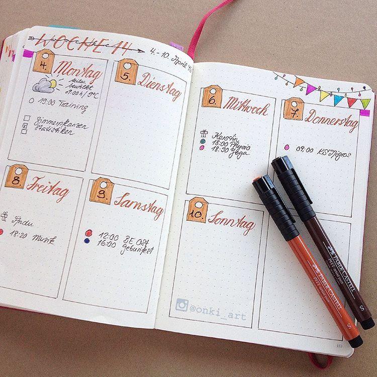 My weekly spread . . | Organizing | Pinterest | Bullet ...