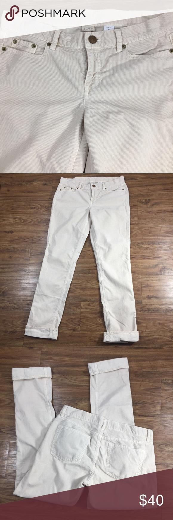 66a1b34b0653 J. Crew Cream Vintage Matchstick Corduroy Pants Skinny Leg Corduroy City Fit  28R Style # 50028 J. Crew Pants Skinny