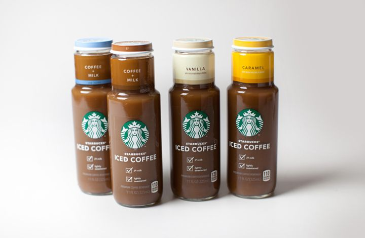 Starbucks Iced Coffee Line Branding Packaging Coffee