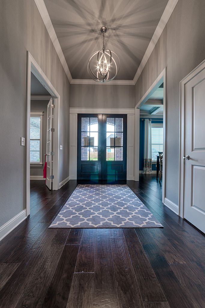 I like the clean straight lines of the molding around the ...